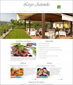 sito web ristorante template 10001