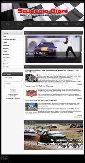 sito web scuderia corse template