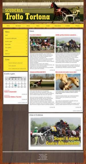 sito web scuderia trotto template