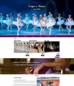 sito web scuola ballo template 10067