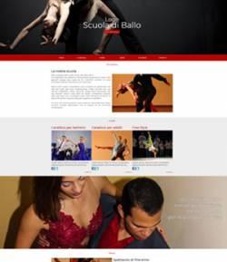 sito web scuola ballo template 10071