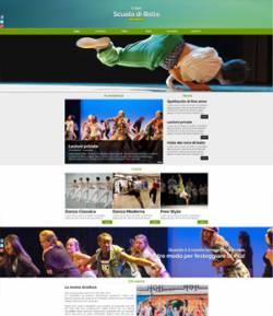 sito web scuola ballo template 10072