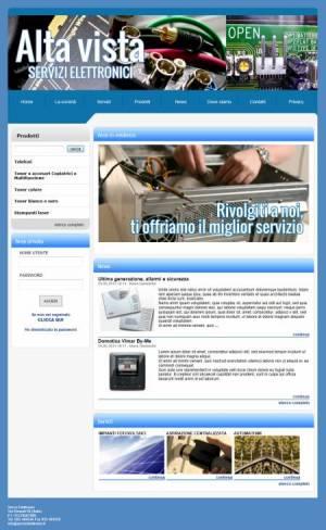 sito web servizi elettronici template