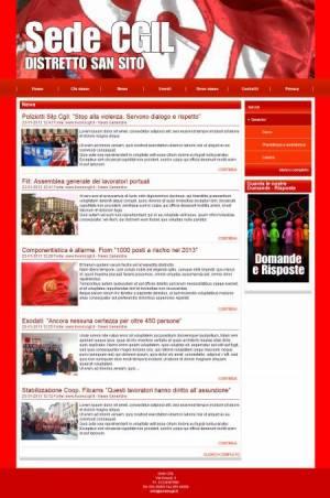 sito web sindacato template