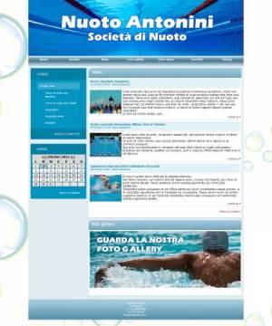 sito web societa nuoto template