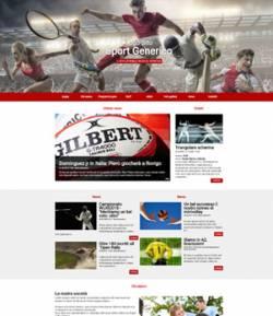 sito web società sportiva template