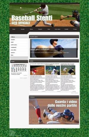 sito per società di baseball template
