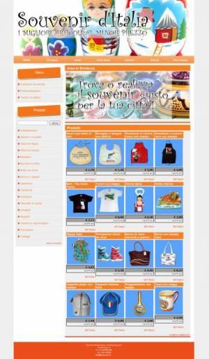 sito web souvenir template