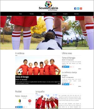 sito web squadra calcio template 10009