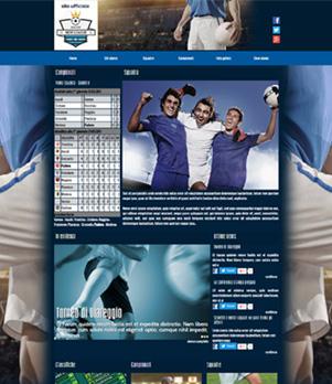 sito web squadra calcio template 10011