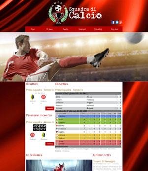 sito web squadra calcio template 100012