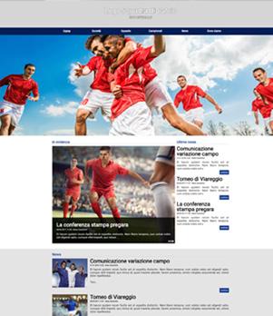 sito web squadra calcio template 10061