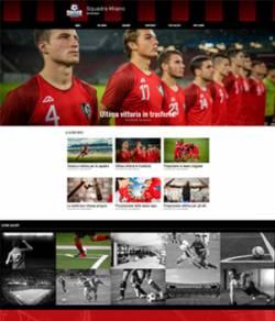 sito web squadra calcio template 10085