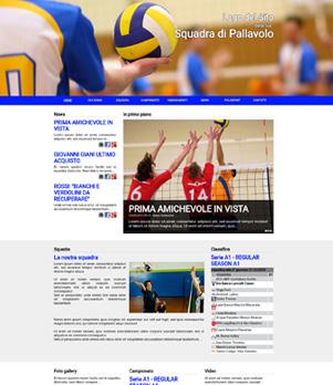 sito web pallavolo template 10036