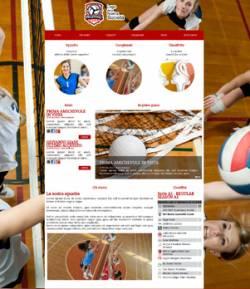 sito web squadra pallavolo template 10037