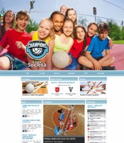 sito web squadra pallavolo template 10038