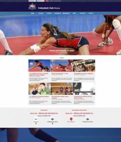 sito web squadra pallavolo template 10087