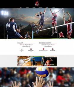 sito web squadra pallavolo template 10088