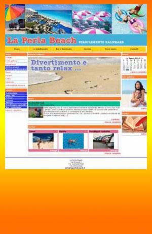 sito web stabilimento balneare template