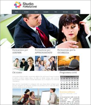 sito web studio formazione template 10015