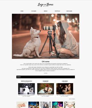 sito web studio fotografico template 10096