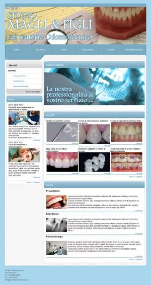 sito web studio odontotecnico template