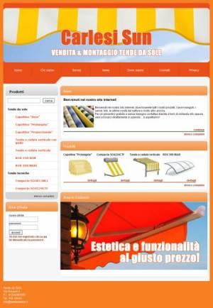 sito web tende sole template