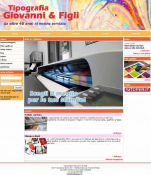 sito web tipografia template