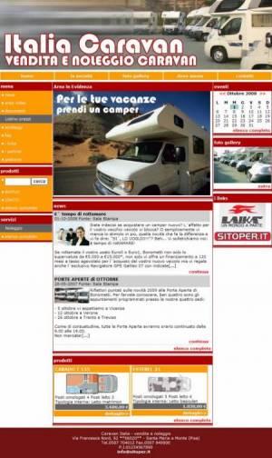 sito web vendita caravan template