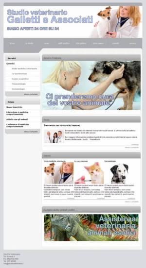 sito web veterinario template
