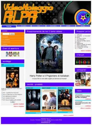 sito web videonoleggio template