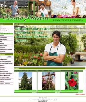 sito web vivaio template