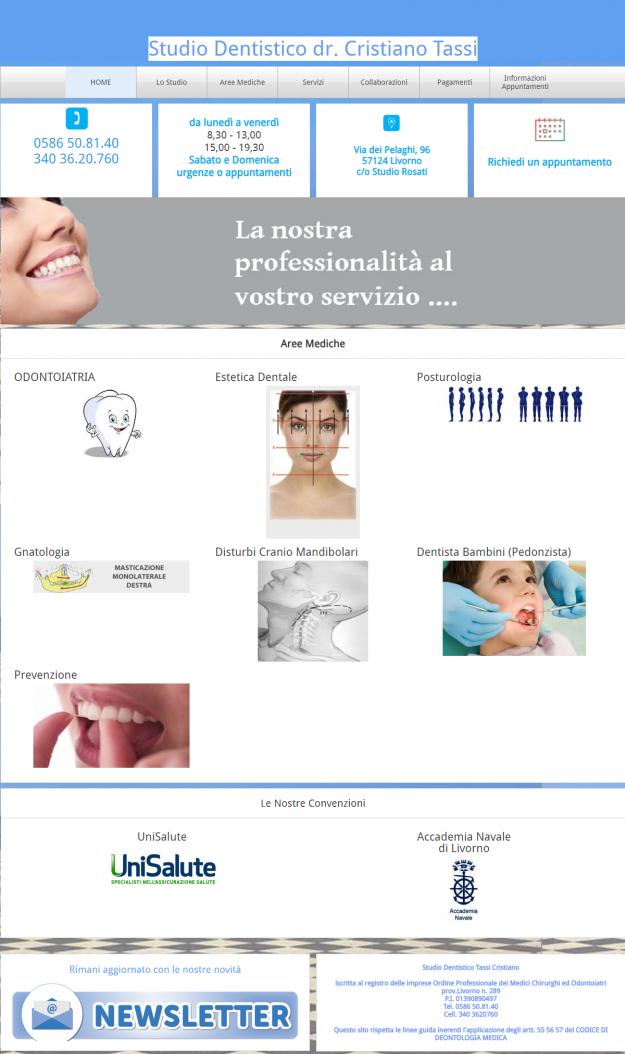 sito web studio dentistico tassi livorno